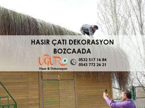Bozcaada Hasır Çatı Dekorasyon